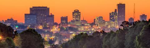 Columbia at sunset